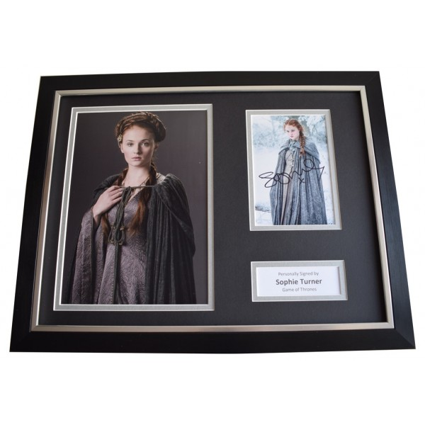 Sophie Turner SIGNED FRAMED Photo Autograph 16x12 display Game of Thrones TV Memorabilia  AFTAL & COA perfect gift