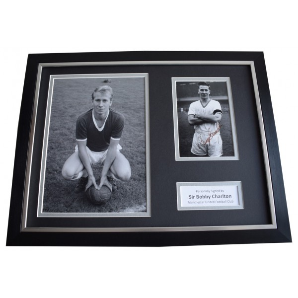 Bobby Charlton SIGNED FRAMED Photo Autograph 16x12 display Manchester United  Memorabilia  AFTAL & COA perfect gift
