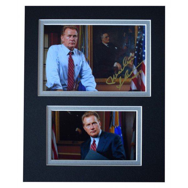 Martin Sheen Signed Autograph 10x8 photo display The West Wing TV AFTAL  COA Memorabilia PERFECT GIFT