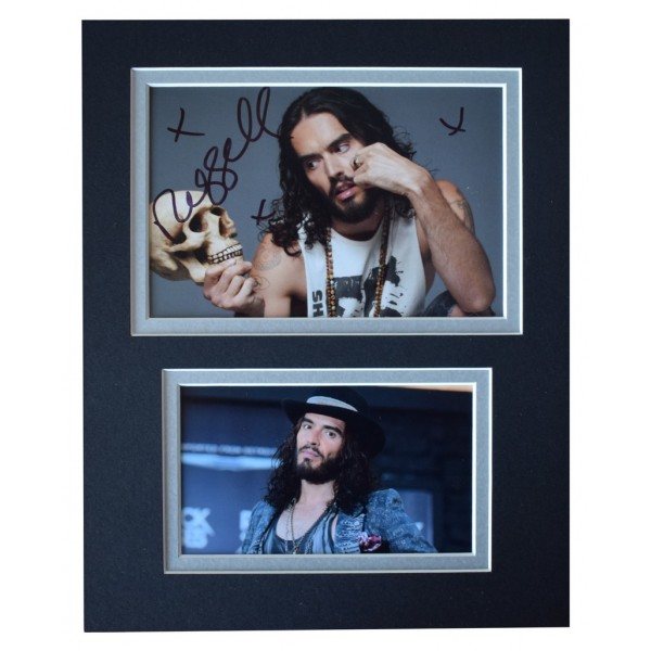 Russell Brand Signed Autograph 10x8 photo display Comedy TV AFTAL  COA Memorabilia PERFECT GIFT