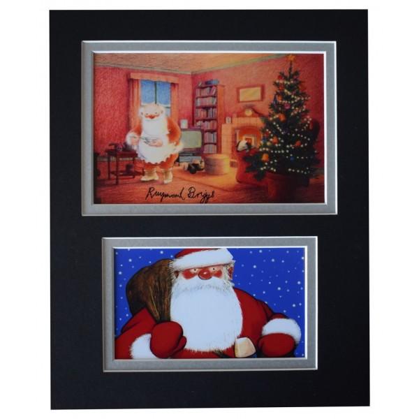 Raymond Briggs Signed Autograph 10x8 photo display Father Christmas TV AFTAL  COA Memorabilia PERFECT GIFT