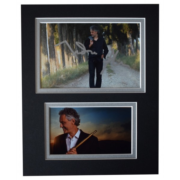 Andrea Bocelli Signed Autograph 10x8 photo display Classical Opera Music AFTAL  COA Memorabilia PERFECT GIFT