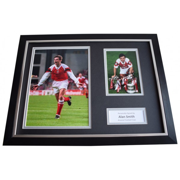 Alan Smith SIGNED FRAMED Photo Autograph 16x12 display Arsenal    Memorabilia  AFTAL & COA perfect gift