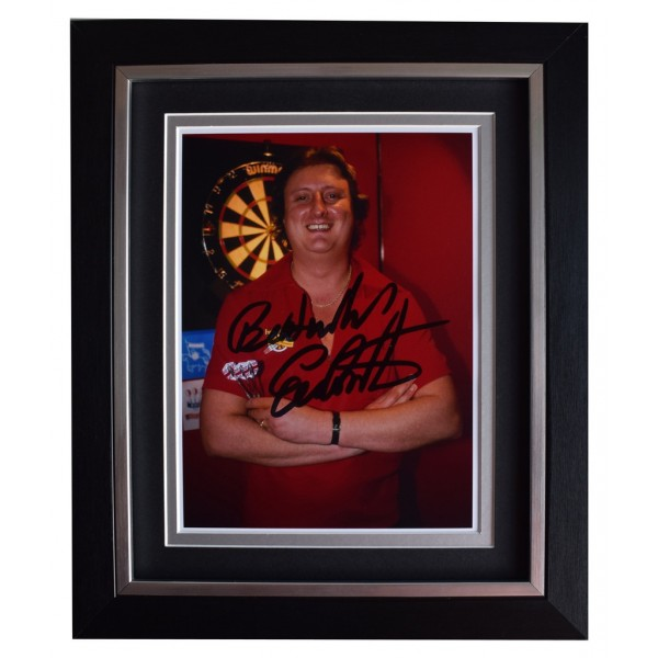 Eric Bristow SIGNED 10x8 FRAMED Photo Autograph Display Darts Sport  AFTAL  COA Memorabilia PERFECT GIFT