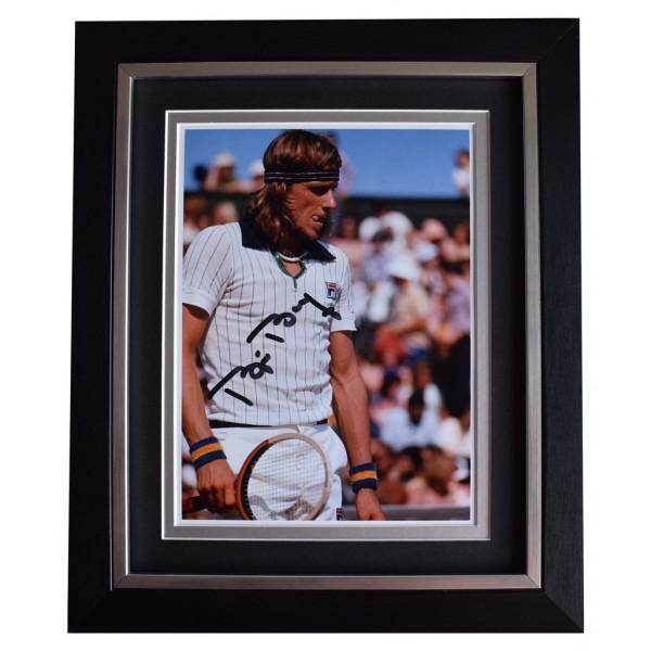Bjorn Borg SIGNED 10x8 FRAMED Photo Autograph Display Tennis Sport AFTAL  COA Memorabilia PERFECT GIFT