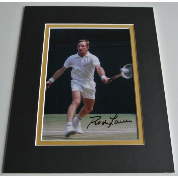 Rod Laver Signed Autograph 10x8 photo display Tennis Memorabilia COA AFTAL Memorabilia PERFECT GIFT