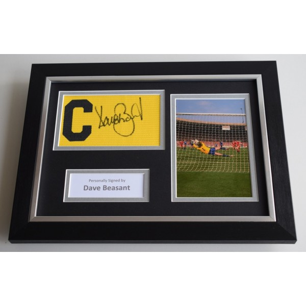 Dave Beasant SIGNED FRAMED Captains Armband A4 Display Wimbledon PROOF AFTAL & COA Memorabilia PERFECT GIFT