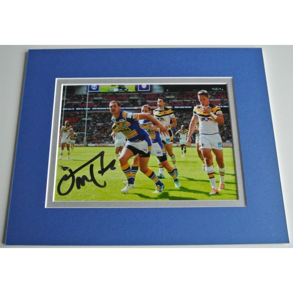 Danny McGuire Signed Autograph 10x8 photo display Leeds Rhinos Rugby  COA AFTAL Memorabilia PERFECT GIFT