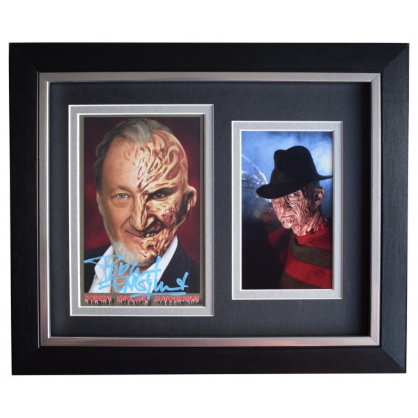 Robert Englund SIGNED 10x8 FRAMED Photo Autograph Display Freddy Krueger   AFTAL  COA Memorabilia PERFECT GIFT