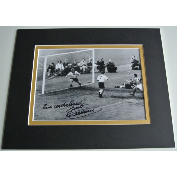 Just Fontaine Signed Autograph 10x8 photo display France Football COA AFTAL Memorabilia PERFECT GIFT