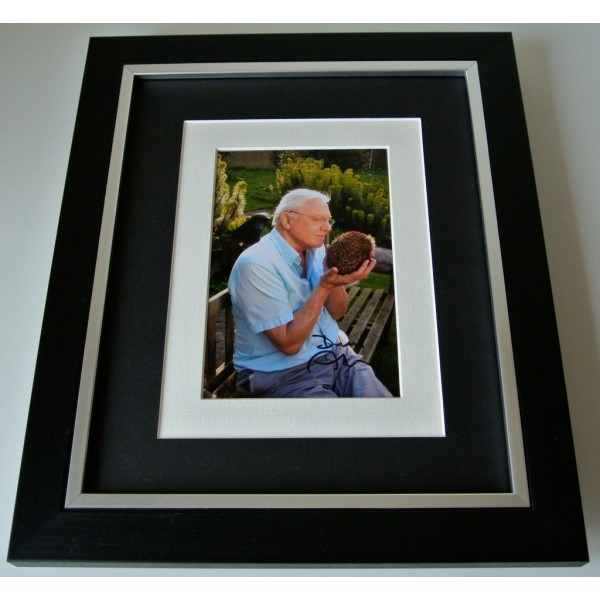 David Attenborough  SIGNED 10X8 FRAMED Photo Autograph Display TV Animals & COA