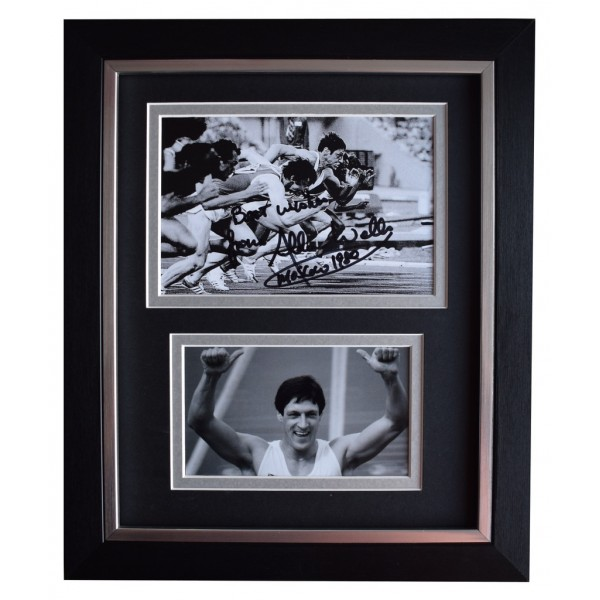 Allan Wells SIGNED 10x8 FRAMED Photo Autograph Display 100 metres Olympics  AFTAL  COA Memorabilia PERFECT GIFT