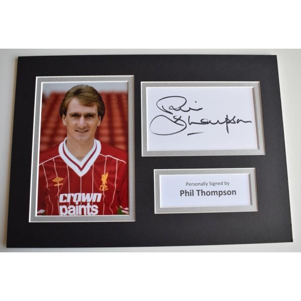 Phil Thompson Signed Autograph A4 photo display Liverpool Football Memorabilia  AFTAL & COA perfect gift