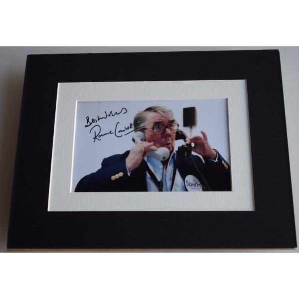 Ronnie Corbett Signed Autograph 10x8 photo mount display TV Two Ronnies  AFTAL & COA Memorabilia PERFECT GIFT