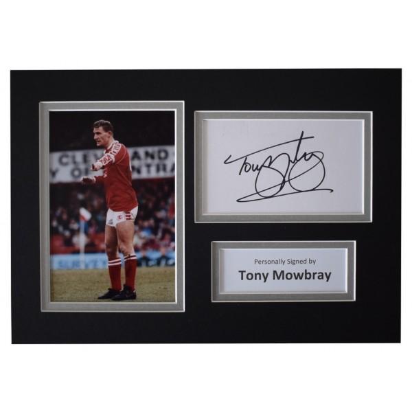 Tony Mowbray Signed Autograph A4 photo display Middlesborough Football AFTAL  COA Memorabilia PERFECT GIFT