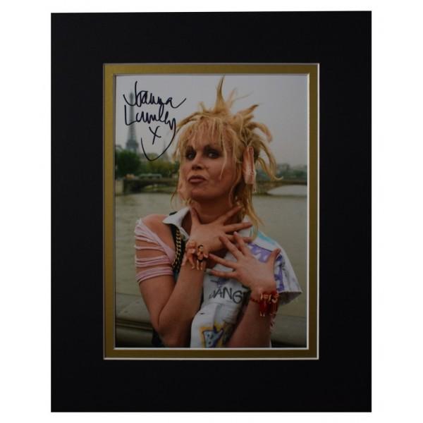 Joanna Lumley Signed Autograph 10x8 photo display AB Fab TV  AFTAL  COA Memorabilia PERFECT GIFT