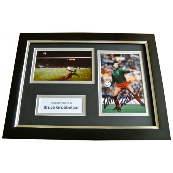 Bruce Grobbelaar Signed A4 FRAMED Photo Autograph Display Liverpool Football COA PERFECT GIFT
