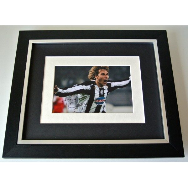 Pavel Nedved SIGNED 10X8 FRAMED Photo Autograph Display Juventus Football COA