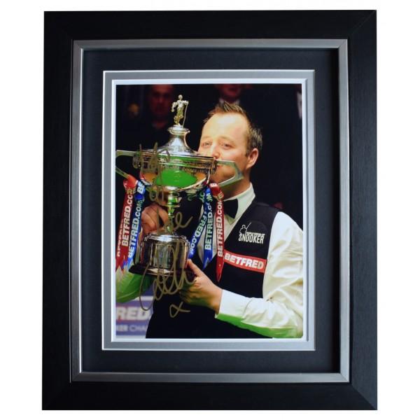 John Higgins SIGNED 10x8 FRAMED Photo Autograph Display Snooker Sport AFTAL  COA Memorabilia PERFECT GIFT