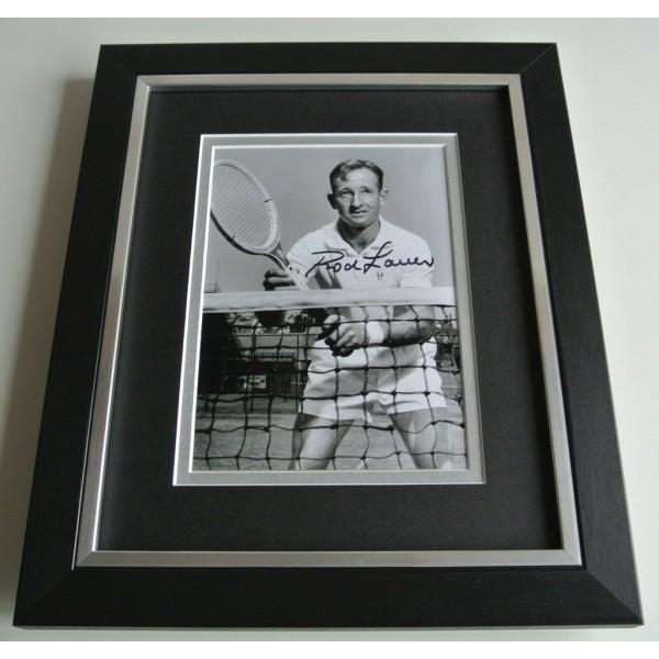 Rod Laver SIGNED 10X8 FRAMED Photo Autograph Display Tennis Memorabilia & COA AFTAL Memorabilia PERFECT GIFT