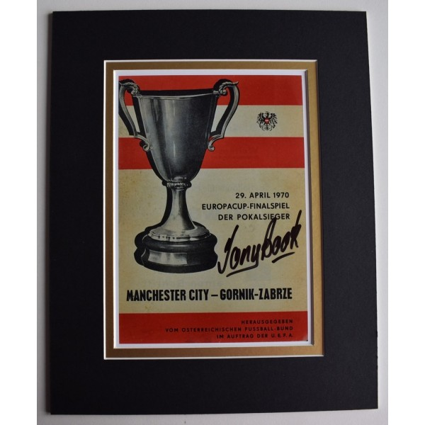 Tony Book Signed Autograph 10x8 photo display Manchester City Football  Memorabilia  AFTAL & COA perfect gift