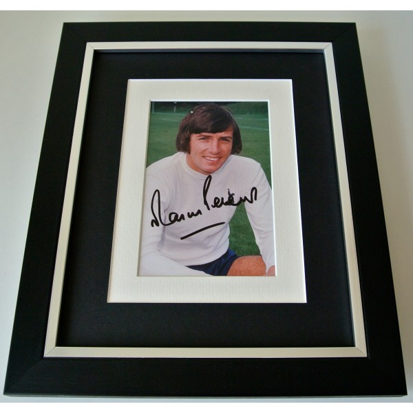 Martin Peters SIGNED 10X8 FRAMED Photo Autograph Display Tottenham Hotspur COA Perfect Gift
