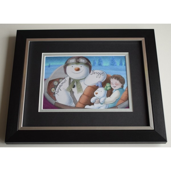 Raymond Briggs SIGNED 10X8 FRAMED Photo Autograph Display The Snowman TV  AFTAL & COA Memorabilia PERFECT GIFT