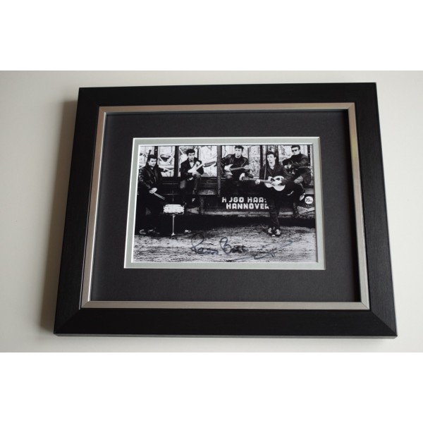 Pete Best SIGNED 10X8 FRAMED Photo Autograph Display Beatles Music AFTAL & COA Memorabilia PERFECT GIFT
