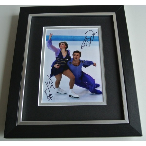 Jayne Torvill & Christopher Dean SIGNED 10X8 FRAMED Photo Autograph Display COA AFTAL Memorabilia PERFECT GIFT