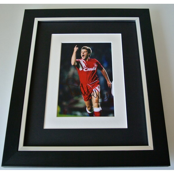 Jan Molby SIGNED 10X8 FRAMED Photo Mount Autograph Display Liverpool & COA Perfect Gift