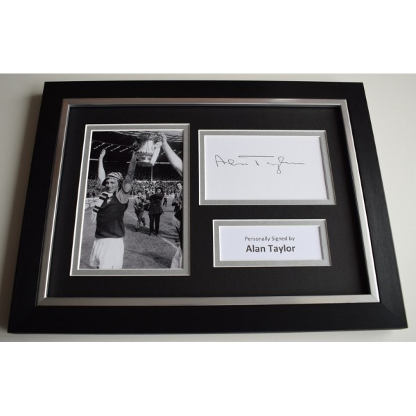 Alan Taylor Signed A4 FRAMED photo Autograph display West Ham United COA & AFTAL Memorabilia   perfect gift
