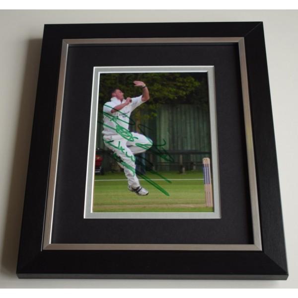 Darren Gough SIGNED 10X8 FRAMED Photo Autograph Display England Cricket  AFTAL & COA Memorabilia PERFECT GIFT