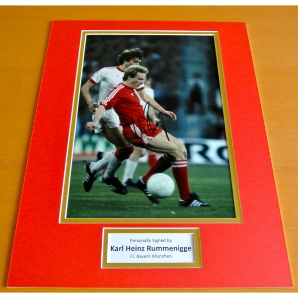 Karl Heinz Rummenigge SIGNED autograph 16x12 photo mount display Germany & COA   PERFECT GIFT