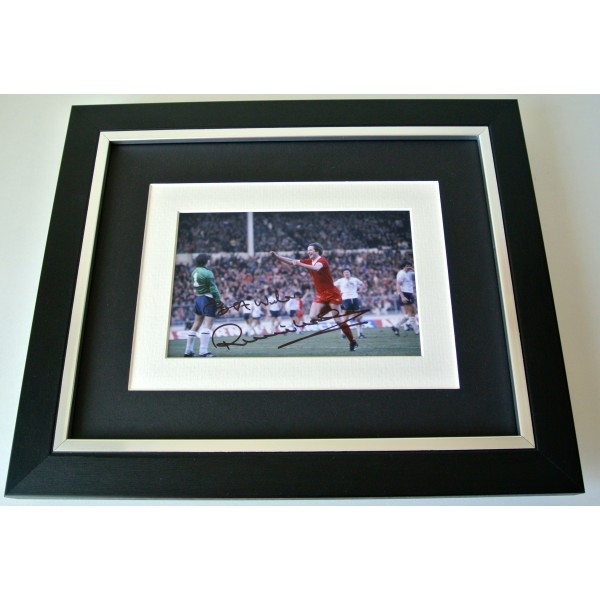Ronnie Whelan SIGNED 10X8 FRAMED Photo Mount Autograph Display Liverpool & COA  Perfect Gift