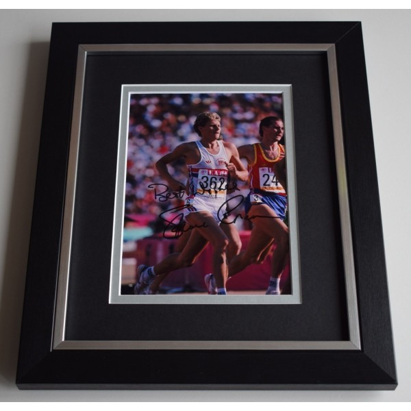 Steve Cram SIGNED 10X8 FRAMED Photo Autograph Display Olympic Athletics AFTAL & COA Memorabilia PERFECT GIFT