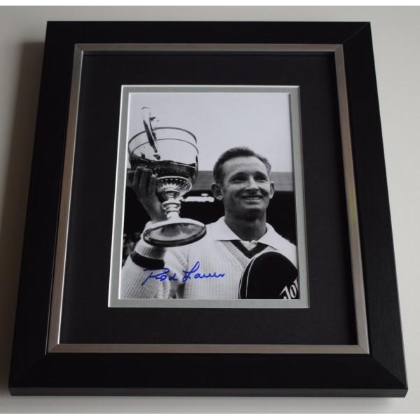 Rod Laver SIGNED 10X8 FRAMED Photo Mount Autograph Display Tennis AFTAL & COA Memorabilia PERFECT GIFT
