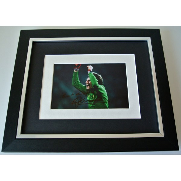 Ray Clemence SIGNED 10X8 FRAMED Photo Mount Autograph Display Liverpool & COA  Perfect Gift