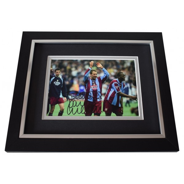 Paul Merson SIGNED 10x8 FRAMED Photo Autograph Display Aston Villa Football  AFTAL  COA Memorabilia PERFECT GIFT