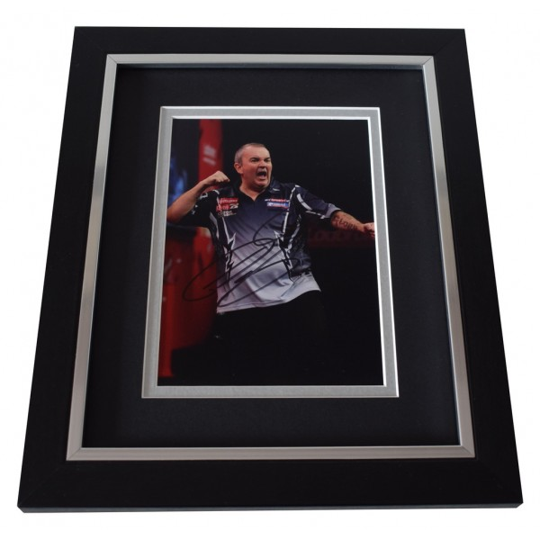 "Phil ""The Power"" Taylor SIGNED 10x8 FRAMED Photo Autograph Display Darts  AFTAL  COA Memorabilia PERFECT GIFT"