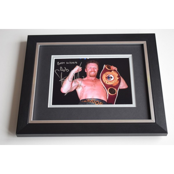 Steve Collins SIGNED 10X8 FRAMED Photo Autograph Display Boxing   AFTAL & COA Memorabilia PERFECT GIFT