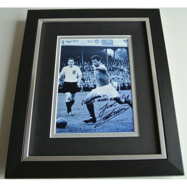 Just Fontaine SIGNED 10X8 FRAMED Photo Autograph Display France Football & COA AFTAL Memorabilia PERFECT GIFT