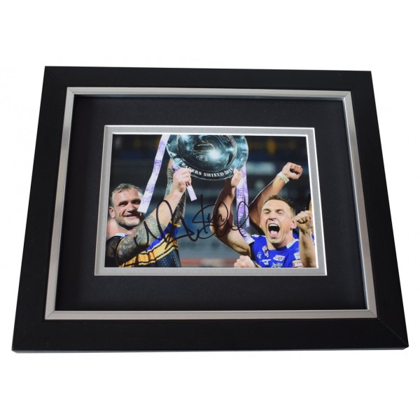 Jamie Peacock & Kevin Sinfield SIGNED 10x8 FRAMED Photo Autograph Leeds Rhinos AFTAL  COA Memorabilia PERFECT GIFT