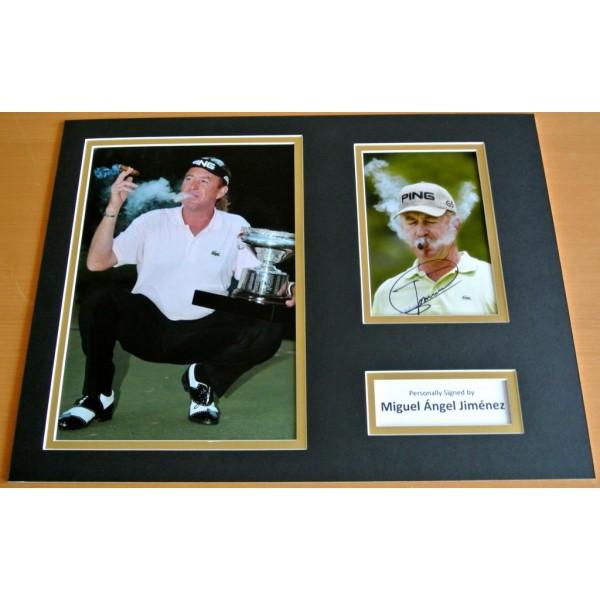 Miguel Angel Jimenez SIGNED autograph 16x12 photo display Golf Memorabilia  COA & AFTAL Sport Memorabilia PERFECT GIFT