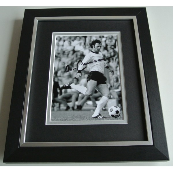 Franz Beckenbauer SIGNED 10X8 FRAMED Photo Autograph Display Germany  COA AFTAL Memorabilia PERFECT GIFT