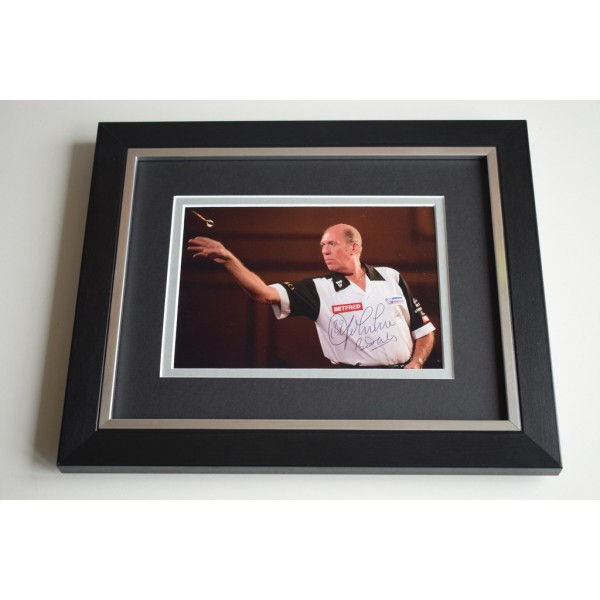 John Lowe SIGNED 10X8 FRAMED Photo Mount Autograph Display Darts  AFTAL & COA Memorabilia PERFECT GIFT
