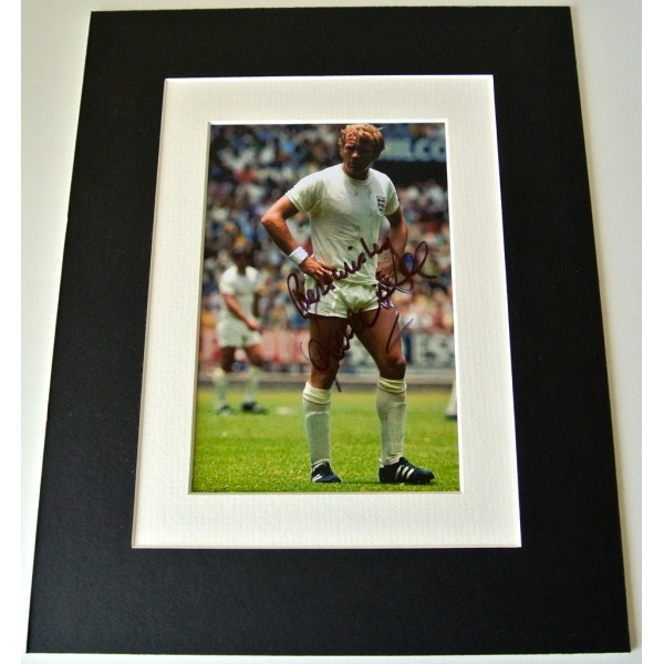 Francis Lee Signed Autograph 10x8 photo mount display England Football & COA
