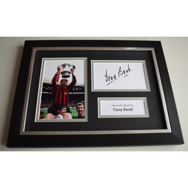 Tony Book Signed A4 FRAMED photo Autograph display Manchester City Football  COA & AFTAL Memorabilia   perfect gift