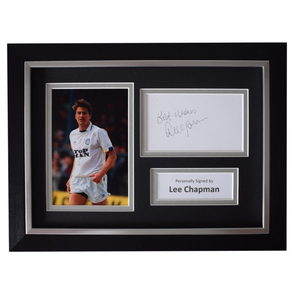Lee Chapman SIGNED A4 FRAMED Autograph Photo Display Leeds United  AFTAL  COA Memorabilia PERFECT GIFT
