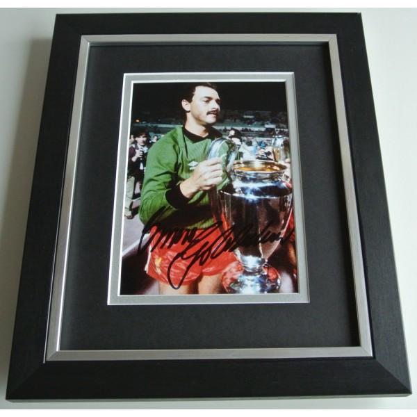 Bruce Grobbelaar SIGNED 10X8 FRAMED Photo Autograph Display Liverpool COA AFTAL Memorabilia PERFECT GIFT