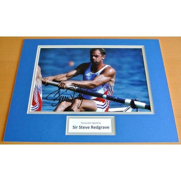 Steve Redgrave SIGNED autograph 16x12 photo display Olympic Memorabilia & COA & AFTAL  Sport Memorabilia PERFECT GIFT